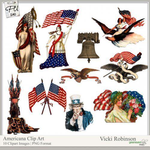 Vintage Americana Clip Art | Scrappn' | Pinterest Vintage Americana Graphics