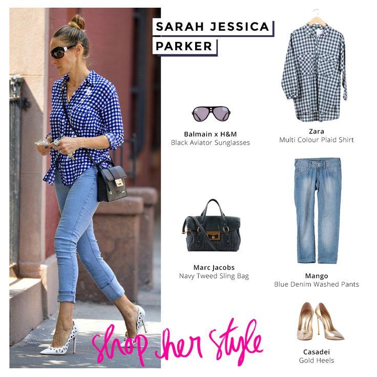 Street style satu ini yang di bawa dari Sarah Jessica Parker yang telihat simple but still look chic too Ladies. Let's copy and shop her look now Ladies!