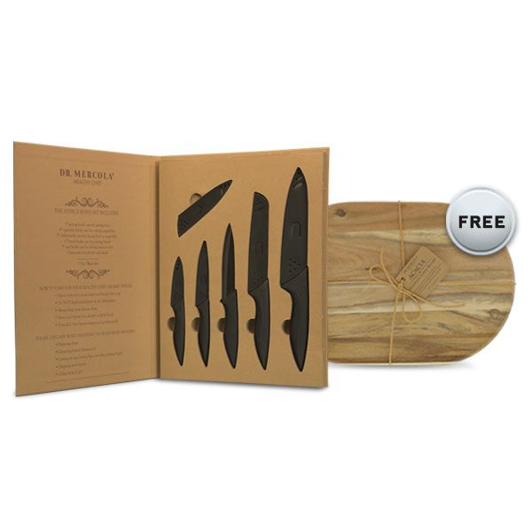 Whether you're a gourmet chef or simply an everyday meal maker, Mercola Healthy Chef ceramic knife set will help you create healthy and hearty meals. http://cookware.mercola.com/ceramic-knives.aspx