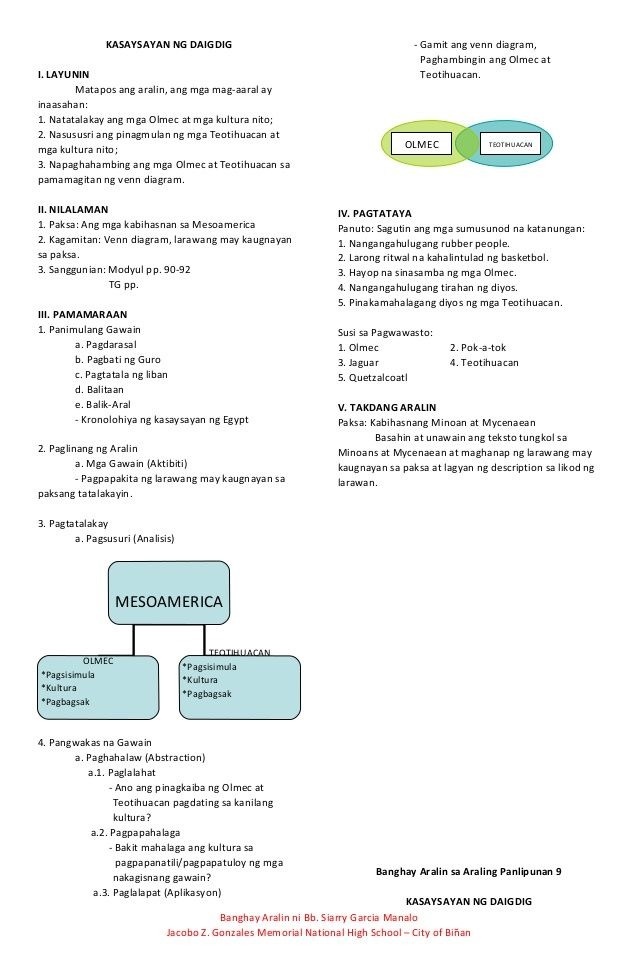 Ano Ang Venn Diagram Tagalog Meter Wiring Diagrams Nz Banghay Aralin Sa Araling Panlipunan 9 1 Pinterest Lesson