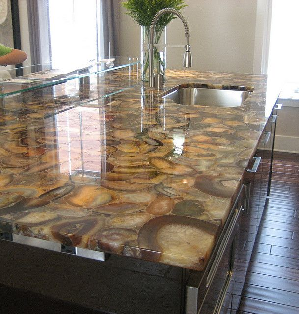 "Stunning geode countertop, which can be lit from below. Saw this product used on HGTV's ""Kitchen Cousins"""