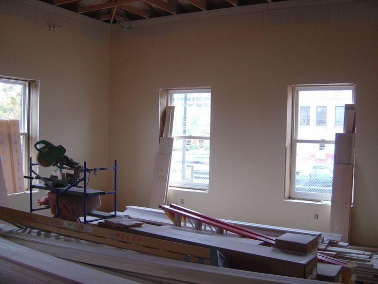 Braun & Steidl Architects : Richard Howe House during the restoration process.