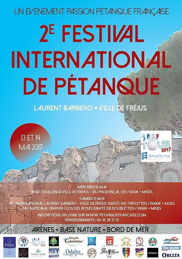 """""""2ème Festival International à pétanque de Fréjus - Avec WebTV """""""