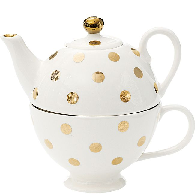 Miss Etoile Dots Tea for One Teapot with Teacup - Twinings Online Tea Shop