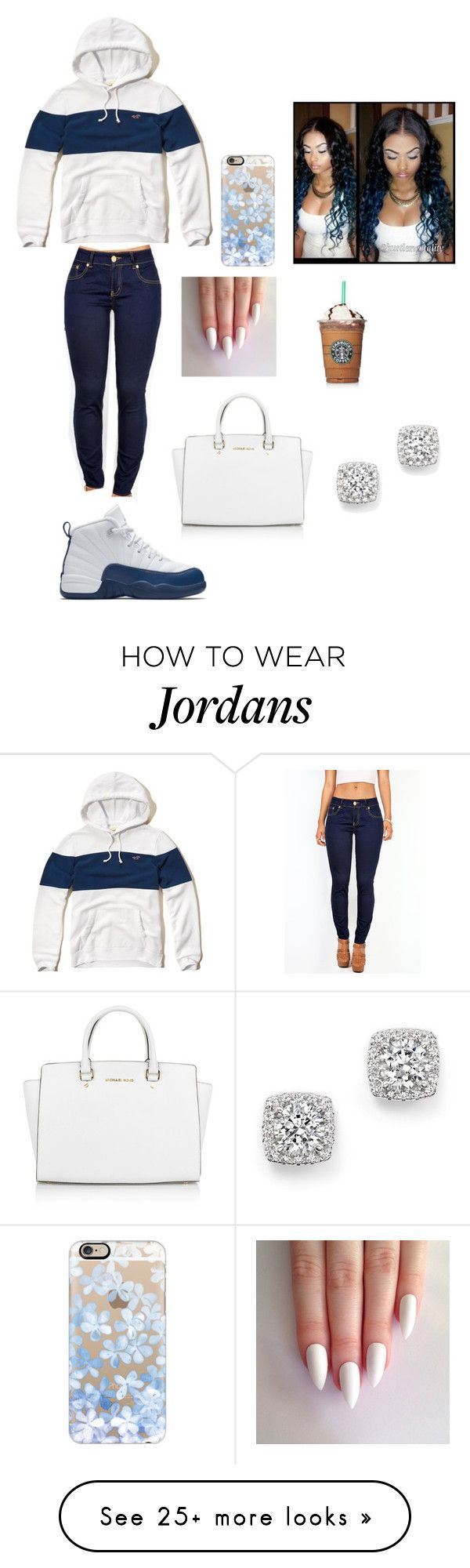 """Need more ideas "" by fam0us-e on Polyvore featuring Hollister Co., NIKE, Bloomingdale's, Casetify and Michael Kors"