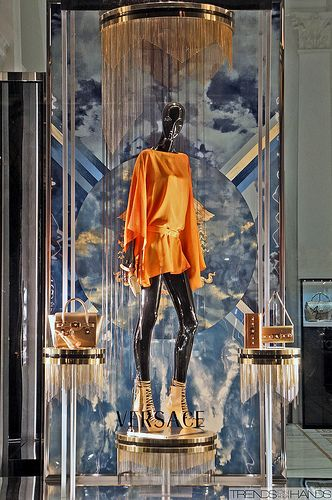 Versace store window