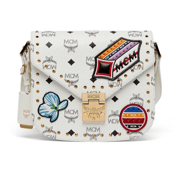 MCM Patricia Shoulder Bag In Victory Patch Visetos ($895) ❤ liked on Polyvore featuring bags, handbags, shoulder bags, shoulder hand bags, patch purse, shoulder bag purse, colorful purses and multi coloured handbags