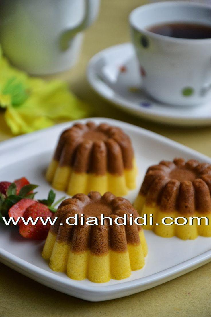 Diah Didi's Kitchen: Step by Step, Tips & Trik Membuat Cake Labu Kuning Lapis Coklat