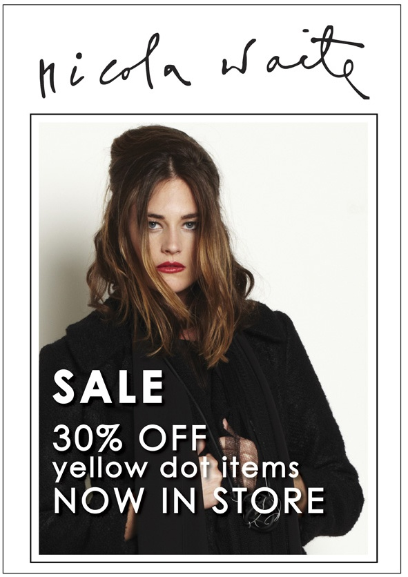 30% off Yellow Dot items.  Limited quantities. Sizes 8-22