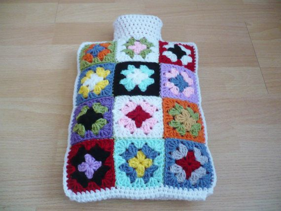 Hot Water Bottle Cover/Cozy by Aalexi on Etsy, £20.00