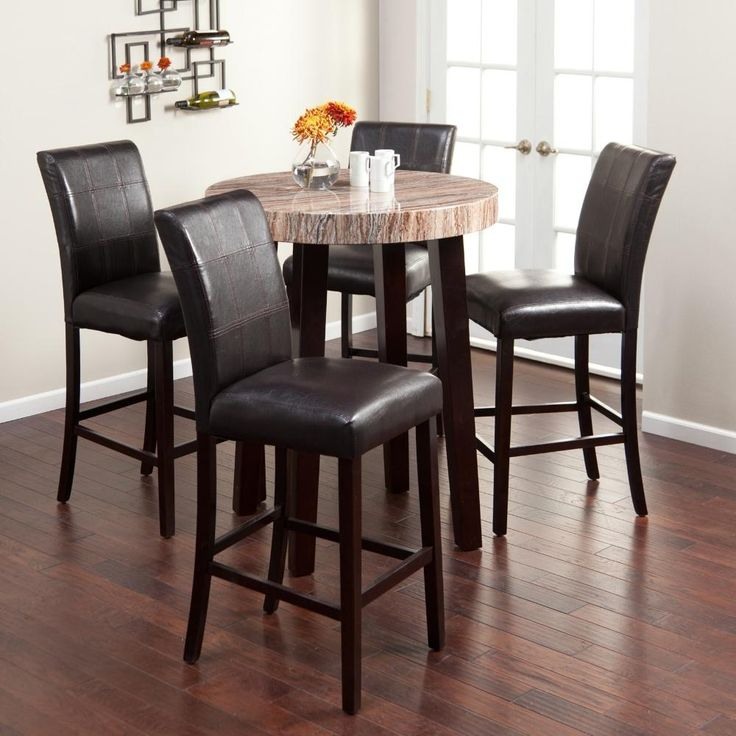 Add A Comfortable And Laid Back Feel To Your Dining Room With This Pub  Style Table