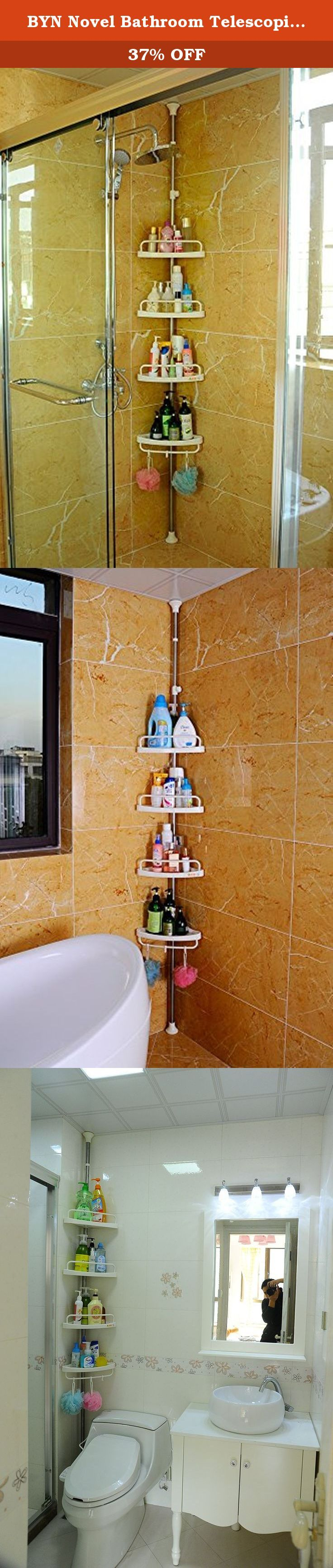 BYN Novel Bathroom Telescopic Tension Corner Pole Caddy Shower Organizer Caddy 601d. Please kindly note that the telescopic extendable height from 255 cm to 310 cm , remove bottom pipe ,its adjustable height is coming from 185 cm to 240 cm. If you have any question, please contact our customer service person EMAIL: sales09(at)shdongjin.com Product Description 1. Upright stand design, no tools, no drilling needed for assembling. 2. The height between each tray can be adjusted by rubber…