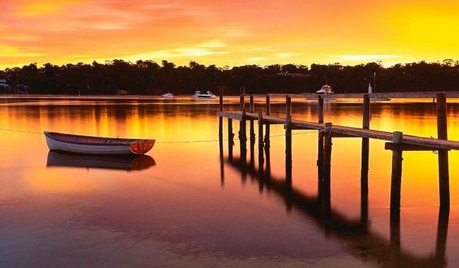 Merimbula Lake sunrise, NSW