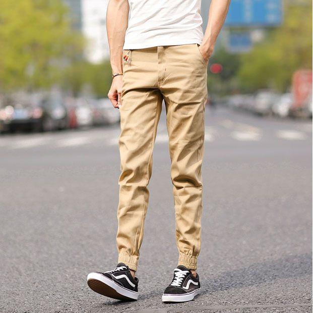 2016 mens casual pants khaki joggers sweatpants man jogging outdoor | worth buying on AliExpress