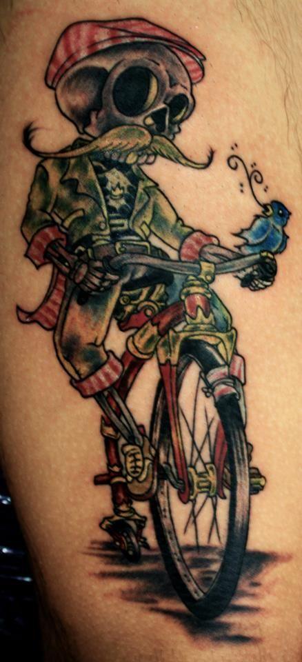 la muerte en bici