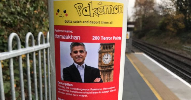 Outrage over racist 'Pakémon' stickers posted at Tube stations targeting 'dangerous' London Mayor Sadiq Khan #outrage #racist #pakemon…