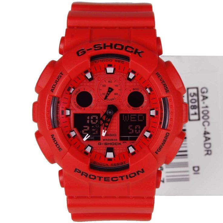 Casio, G-Shock, Analog, Digital, Sports Watch, GA-100C-4ADR, GA-100C-4, mens watch, ladies watch , online offer, online sale
