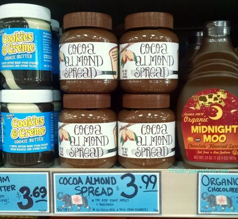 トレーダージョーズのアーモンドスプレッドとそば粉のクレープ #レシピ Trader Joe's Cocoa Almond Spread 13 ounce jar $3.99 トレーダージョーズ ココアアーモンドスプレッド #トレーダージョーズ #ココア #アーモンドスプレッド #ヌテラ #Nutella