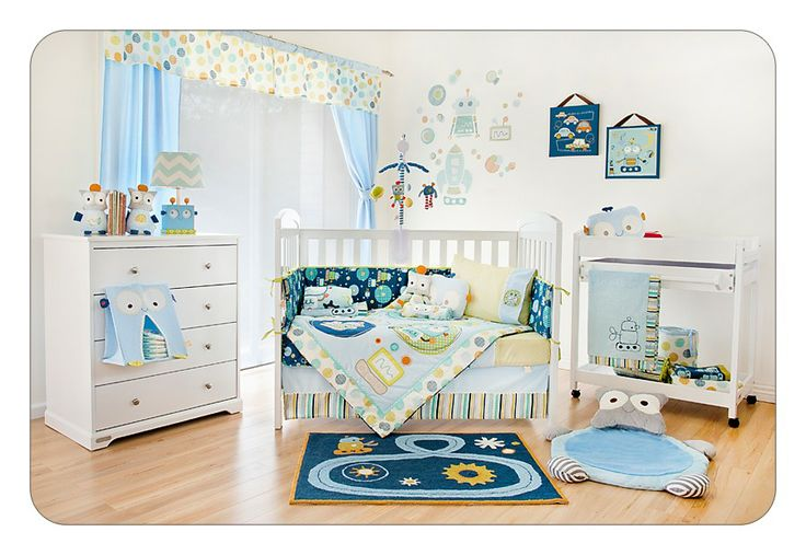 Baby bot decor baby boy room ideas pinterest baby for Robot room decor