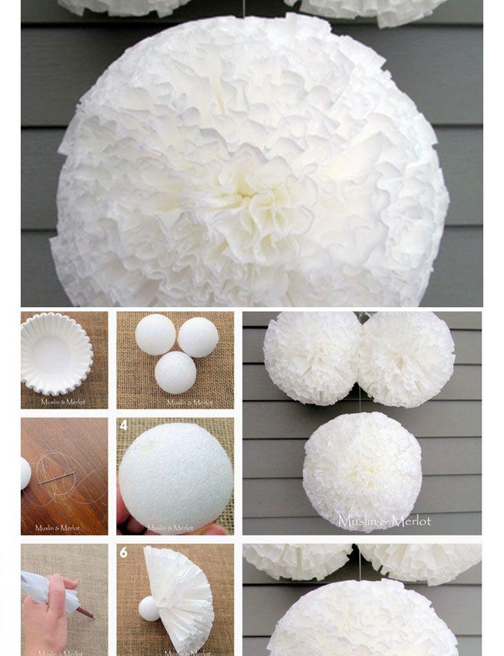 DIY Pom Pom Decorations | Baby Shower Decorations for Girls | Click for Tutorial