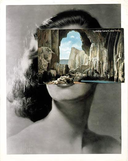 British artist called John Stezaker slice, separate  or adjust his work to give the photographs new meaning