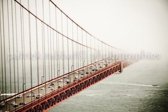 Golden Gate Bridge in the Fog Photo Fine by PatrickRabbatPhotos