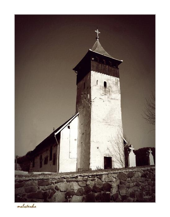 Zarand Land-Criscior, stone church (XIV century)  Hunedoara County, Romania