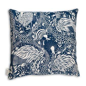 Prancing peacock cushion cover 50x50 cm - blue - House of Rym