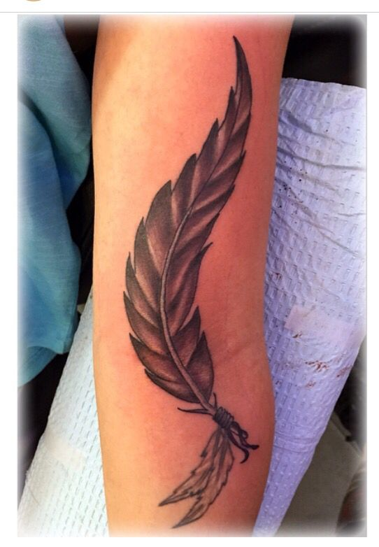 157 best tattoos by jenny forth images on pinterest for Feather tattoo on arm