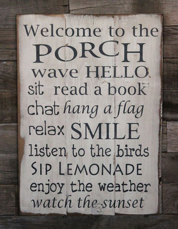 Want this for my porch!