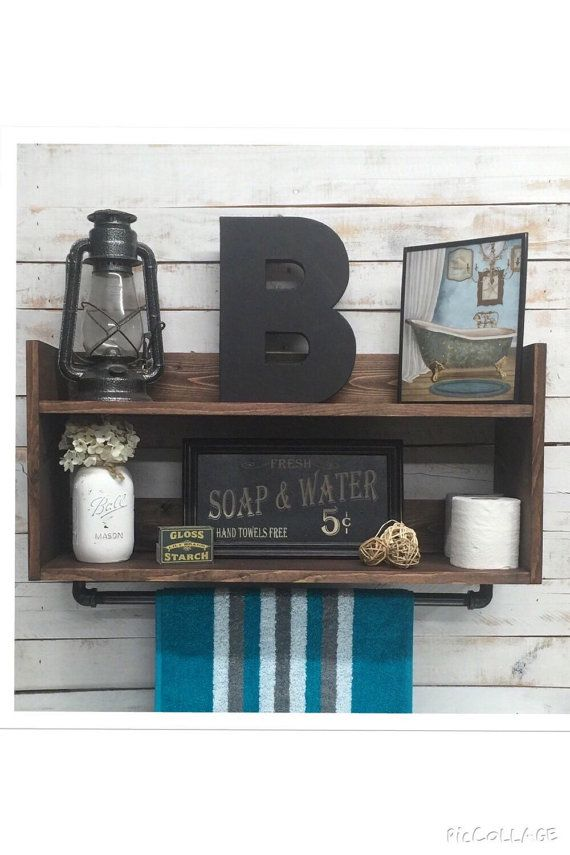 Bathroom shelf unit bathroom towel shelf by countrycornergoods