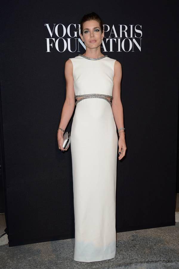 La robe blanche Charlotte Casiraghi
