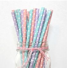 75pcs colorful birthday wedding party decoration event & party festive supplies Kids Drinking Paper Straws(China (Mainland))
