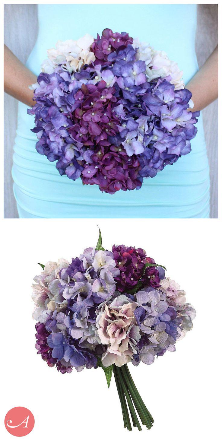 312 best purple wedding flowers images on pinterest purple pre made silk flower bouquets look better dhlflorist Gallery