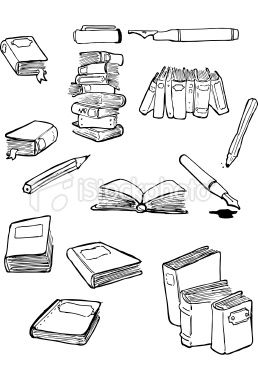 "book doodles Bottom right--doodle for ""I've always imagined paradise would be a kind of library."" Tall stack--doodle for ""The stories we love stay with us forever."" Standing up stack/Middle right--doodle for something else."