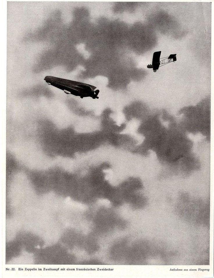 """extremely shocking a on Twitter: """"1915 * Deutscher Zeppelin im Zweikampf mit französischem Flieger * WW I http://t.co/IUbBFgYSTL http://t.co/gP67Iui3tI"""""""
