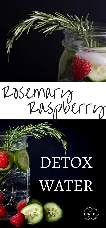 Rosemary Raspberry Detox Water