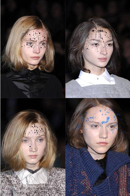 Make-up at A.F. Vandevorst Fall/Winter 2008 by Inge Grognard