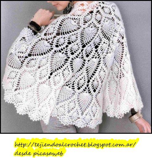 crochet fabric , CROCHET - GANCHILLO - PATRONES - GRAFICOS: CHAL Y PONCHITOS
