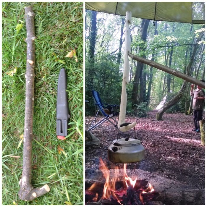 Bushcraft Survival Skills: How To…. Carve And Use An Adjustable Pot Hanger