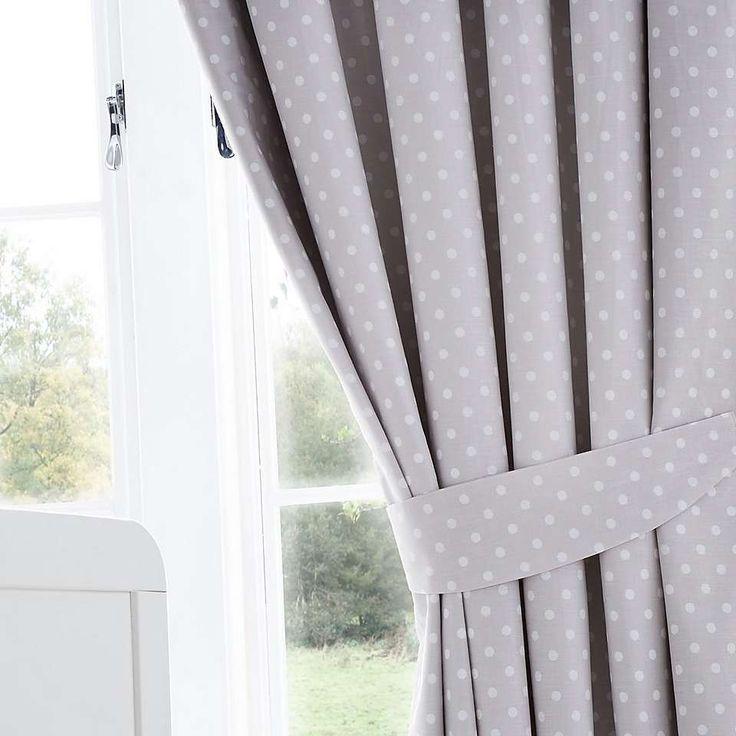 Neutral Nursery Blackout Pencil Pleat Curtains | Dunelm