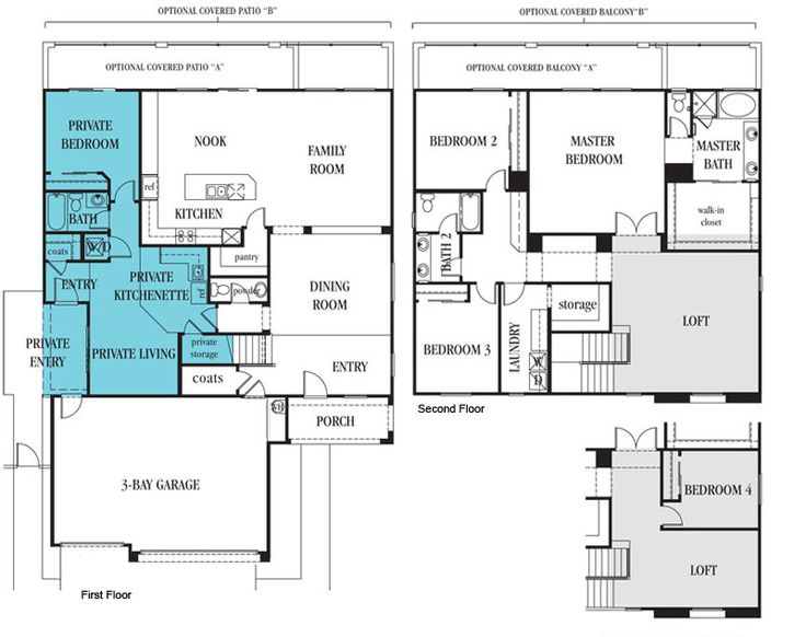 1000 images about second generation floor plans on for Multi generational home builders