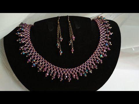 Necklace and earrings. DIY. Колье и серьги. МК – YouTube