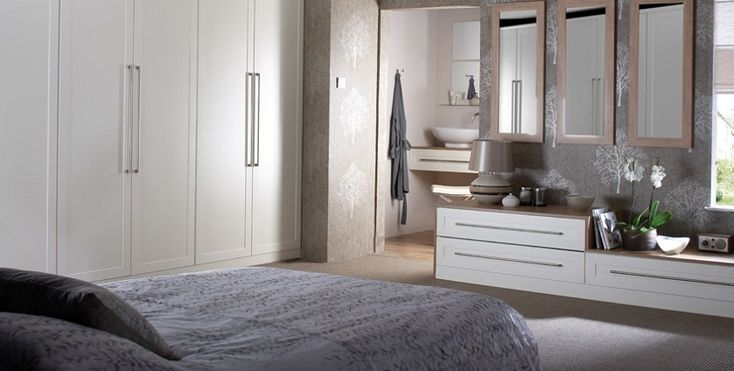 White fitted wardrobes and bedroom furniture