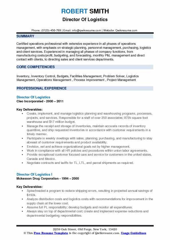Logistics Resume Samples Business Analyst Resume Resume Job Resume Examples
