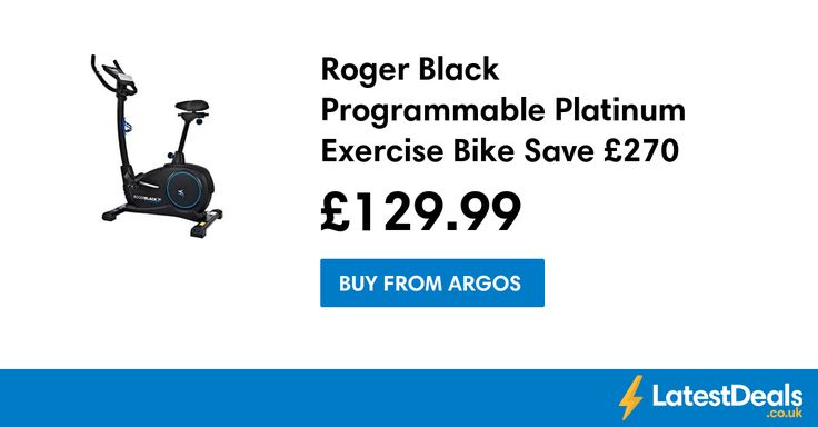 Roger Black Programmable Platinum Exercise Bike Save £270, £129.99 at Argos