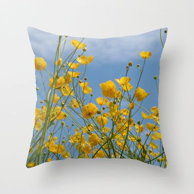 "Throw Pillow / Indoor Cover (16"" X 16"") • 'Smørblomst' • IN STOCK • $20.00 • Go to the store by clicking the item."