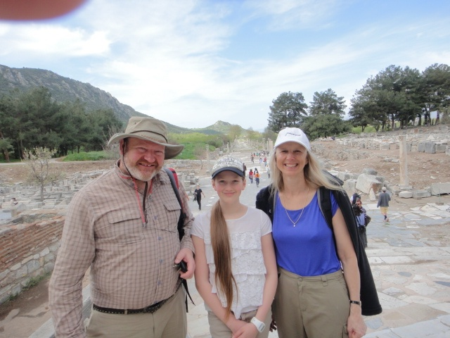 Steven, Lisa and Irene in Turkey