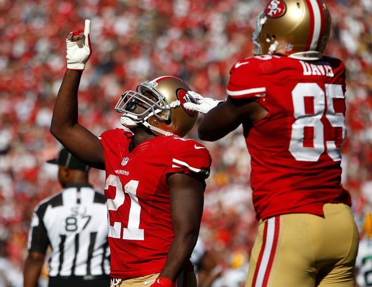 c6f0ee7a7 ... 49ers 21 Frank Gore Vapor Elite Jersey Gray http Frank Gore celebrates  his go-ahead touchdown with San Francisco Vernon Davis during their game ...