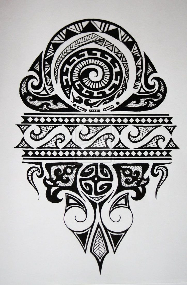 Maori by ~LunKaro on deviantART #polynesian #tattoo